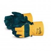 Waterproof Winter-Lined Split-Leather Fitter Gloves With Safety Cuff #66BFTLWT 12/pk