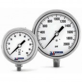 Tel-Tru Model 30 Stainless Steel Analog Pressure Gauge