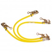 SALISBURY 22961 TriPro Ground Sets 3-PHASE 10FT 1/0 GROUND SET WITH C CLAMPS FOR SUBSTATIONS