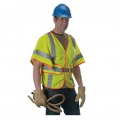Lakeland Industries HRC 1 Hi-Visibility Class 3 Breathable Mesh Vest  W/ Lanyard Port and  Adjustable Sides