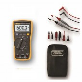 Fluke 115 True RMS Multimeter Value Kit - Includes Soft Carrying Case and Upgraded Test Lead Set