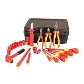 "Wiha Tools 31495 - 24 Piece Insulated Tool Kit - 3/8"" Drive Socket Set"